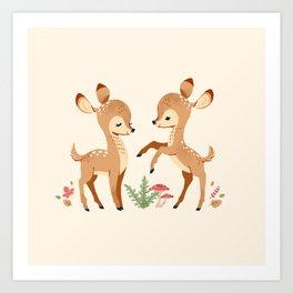 forest animals pattern Art Print