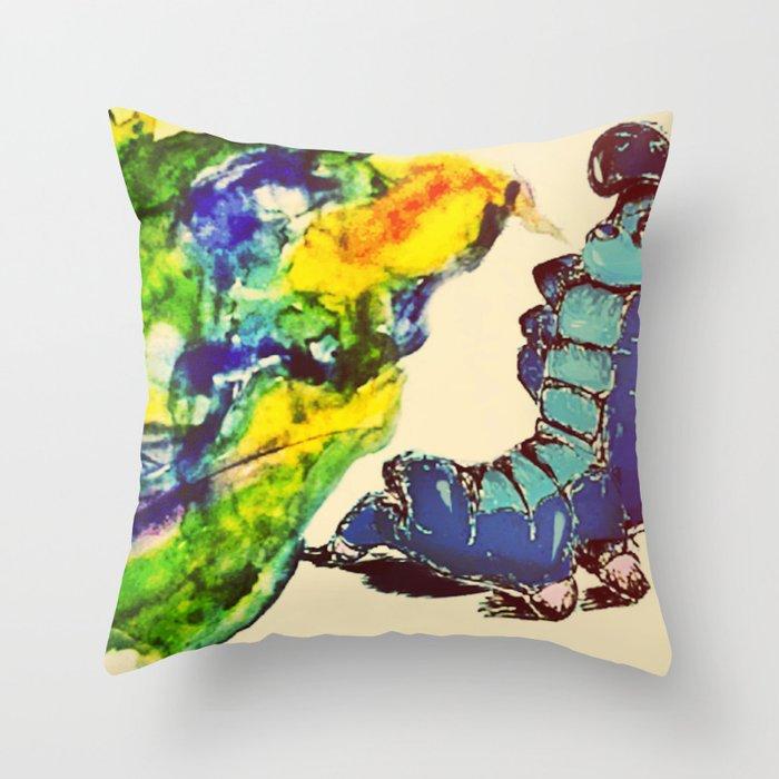 caturpillur Throw Pillow