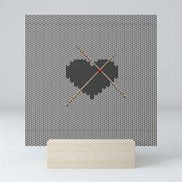 Original Knitted Heart Design Mini Art Print
