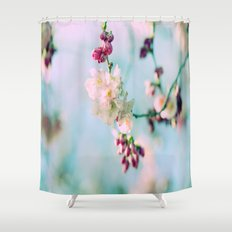 Cherry Blossoms pink Pastels Shower Curtain