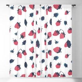 Summer Strawberries Blackout Curtain