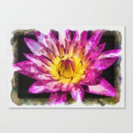Purple Violet Lotus Flower Art Canvas Print