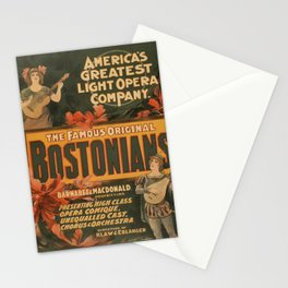 Vintage poster - The Famous Original Bostonians Stationery Cards