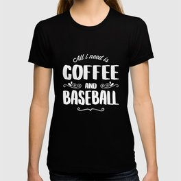 Baseball & Coffee T-shirt