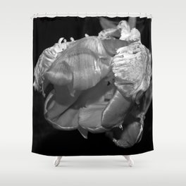 Eros and Death in Black & White Shower Curtain
