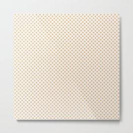 Desert Dust Polka Dots Metal Print