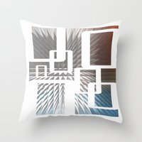 half life Throw Pillows featuring HALF LIFE by bsvc