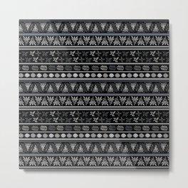 Bohemian Mud cloth Metal Print
