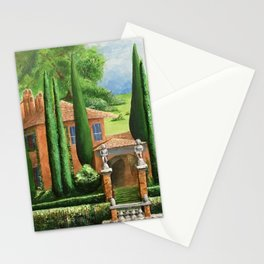 Villa of Lago d' Como Stationery Cards