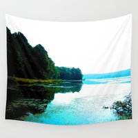 dallas Wall Tapestries featuring Dallas Bay by Happy Fish Gallery