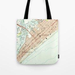 Vintage Map of Wildwood NJ (1955) Tote Bag