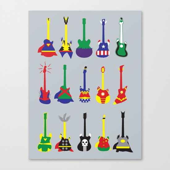 Guitar Heroes  Canvas Print