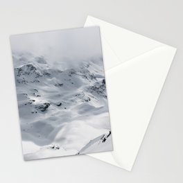 Snow mountain in Switzerland are Beautiful and breath taking Stationery Cards