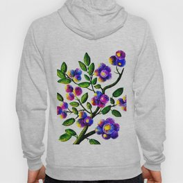 Blue Pink Yelow Flower Branch Clip Art Hoody