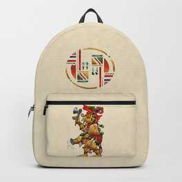 Tribal God War Dance Folk Art Backpack