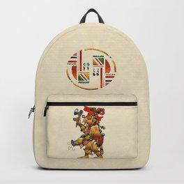 Tribal God War Dance Folk Art Backpack