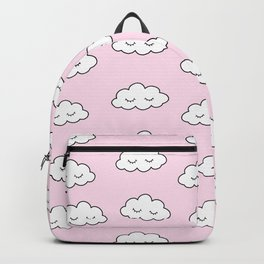 Dreaming clouds in pink Backpack