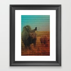 Abstract Rhino Framed Art Print