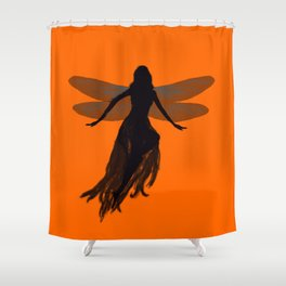 Fairy Silhouette Shower Curtain