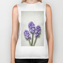 Three Lilac Hyacinth Biker Tank
