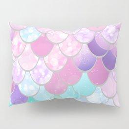 Mermaid Sweet Dreams, Pastel, Pink, Purple, Teal Pillow Sham