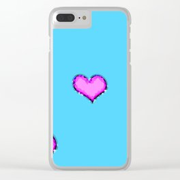 Glamour heart shaped diamonds Clear iPhone Case