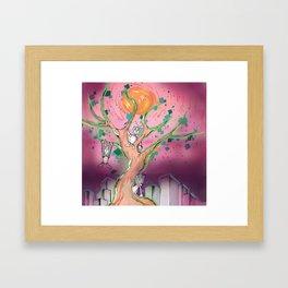 Digital Leaves Framed Art Print