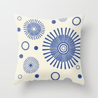 fireworks Throw Pillows featuring Fireworks by Amy Newhouse