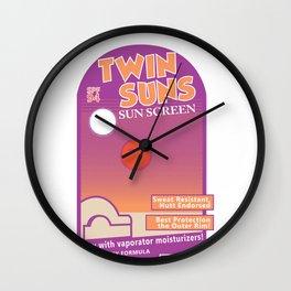 Twin Suns - Sun Screen Wall Clock