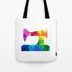Geometric Sewing Machine Tote Bag