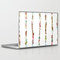 decal Laptop & iPad Skins featuring Tidal Wave by Caroline Sansone