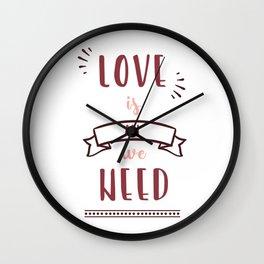 love is all we need Wall Clock
