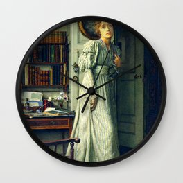 "Sir Lawrence Alma-Tadema ""The closing door"" Wall Clock"