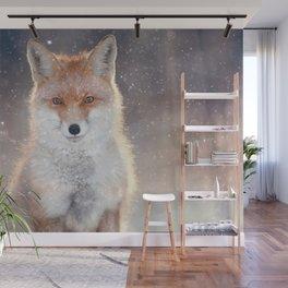 Red fox portrait Wall Mural