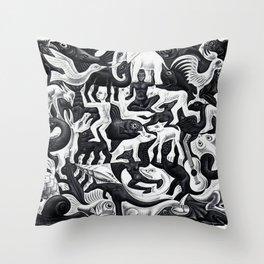 maurits cornelis escher - Mosaic II Throw Pillow