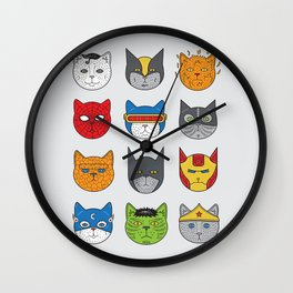 Super Cats Wall Clock