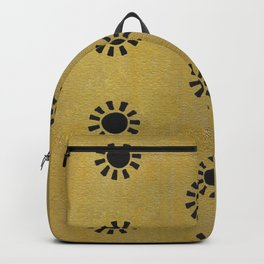 Gold Sun Hand Painted Pattern Backpack
