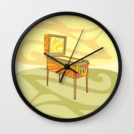 Retro games pinball machine Wall Clock
