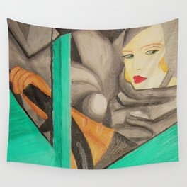 Self-Portrait - Tamara de Lempicka Wall Tapestry