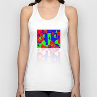 leah flores Tank Tops featuring Flores by DARWIN STEAD