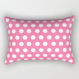 Minnie Mouse Dots | Pink Rectangular Pillow