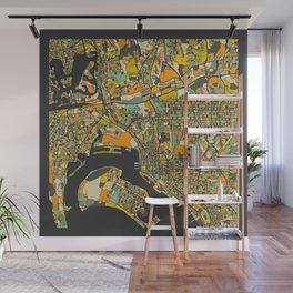SAN DIEGO MAP Wall Mural