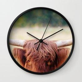 Highland Cow | Farm Animal Photograph Wall Clock