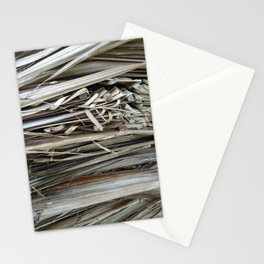 brown palm leaf texture pattern Stationery Cards
