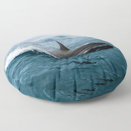 Dolphin in the Atlantic Ocean - Wildlife Photography Floor Pillow