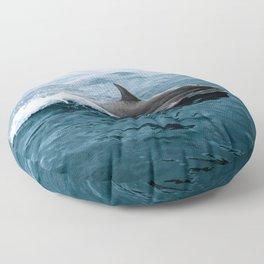 Dolphin in the Atlantic Ocean - Wildlife Photography Floor Pillow