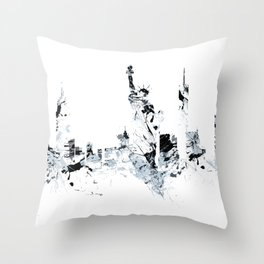 NEW YORK SPLASH Skyline Throw Pillow