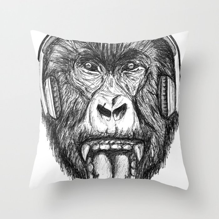 Scream And Shout Throw Pillow