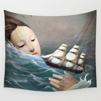 voyage Wall Tapestries featuring Voyage by Christian Schloe