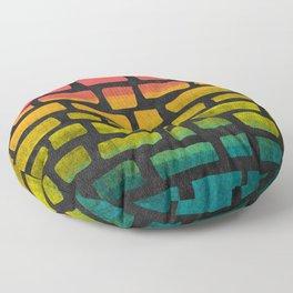 Rainbow Ombre Brick Floor Pillow